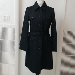 Express Quilted Removable Belt Trench Coat
